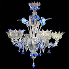 Murano glass chandeliers supermarket the chandeliers in murano glass of this series is originated in the rezzonico chandelier created especially for the palazzo rezzonico in venice mozeypictures Images