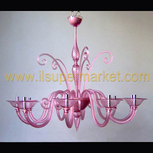 Murano Chandeliers Moderns Pink Panther – Pink Glass Chandelier